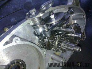 Čtyřstupňová převodovka Jawa 50 Walter