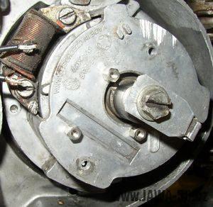 Upravená kostra hliníkového statoru Jawa 20