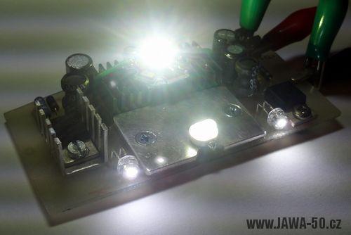 LED koncové světlo Jawa 50 verze 2.0 s brzdovým světlem (zkouška)