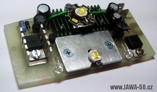 LED koncové světlo Jawa 50 verze 2.0 s brzdovým světlem