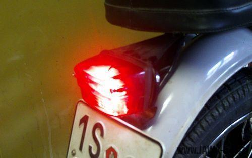 LED koncové světlo Jawa 50 verze 2.0 bez brzdového světla