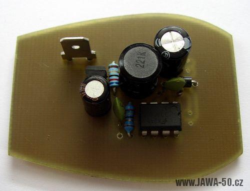 LED světlo Jawa 550, 555, ČZ, Pérák - osazená deska DPS