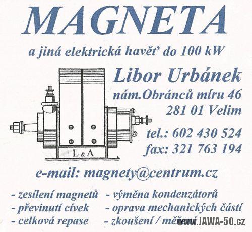 Vizitka Magneta - zesílení magnetů