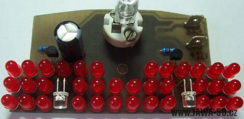 Zadní LED koncové světlo Jawa 50 s brzdovým světlem