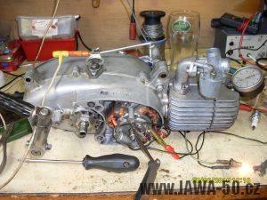 Seřízení předstihu motoru Jawa 50