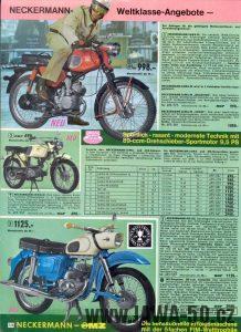 List katalogu Neckermann s Jawou 23 Mustang