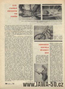 Článek ze Světa Motorů o čtyřstupňové převodovce Jawa 50