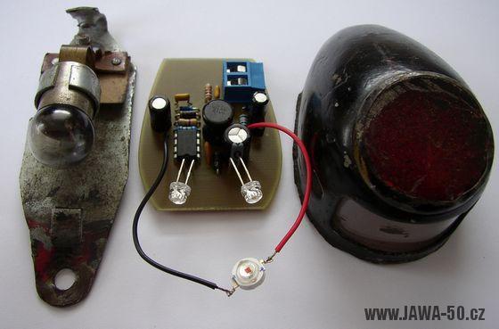 Osazená deska bez plechového můstku výkonové LED