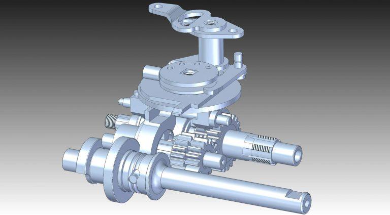 Pětistupňová převodovka Jawa 50 - 3D model